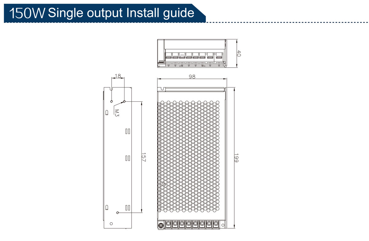 14-3 150W Single Output