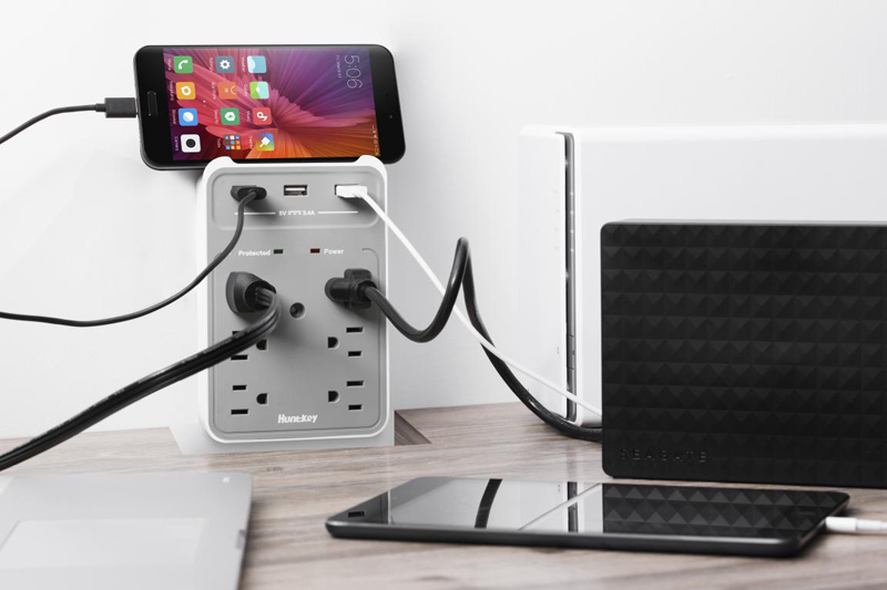 wall-mount-power-strip_02 Huntkey Upgraded Wall Mount Power Strip Is Available on Amazon