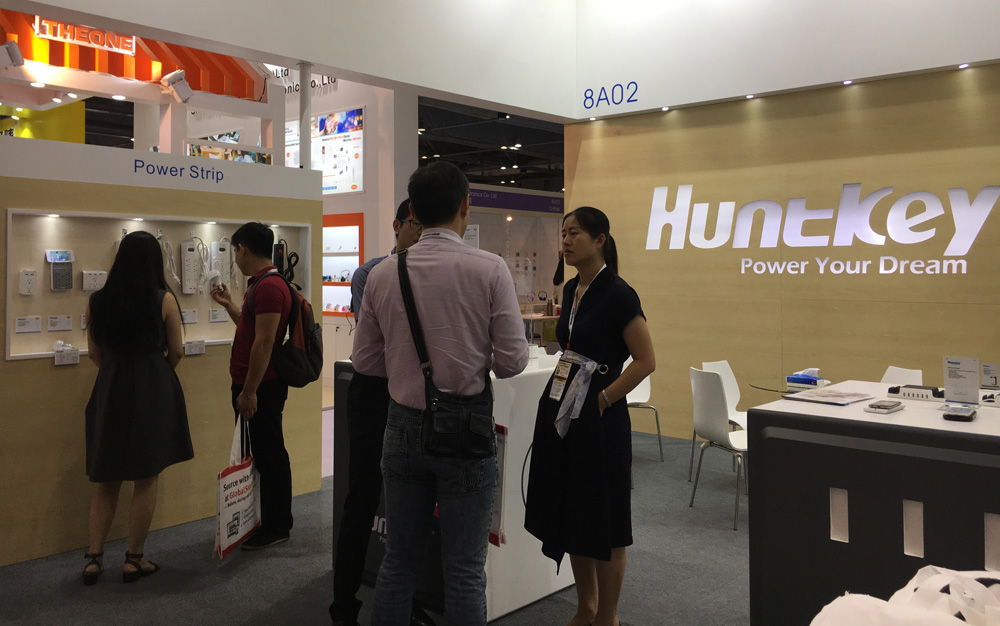 Huntkey-Booth1 Huntkey Durable Industrial Power Supplies Exhibited at Global Sources Electronics