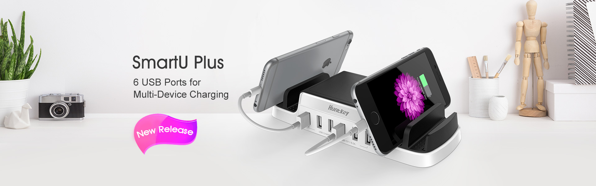 6 USB Ports for Multi-Device Charging